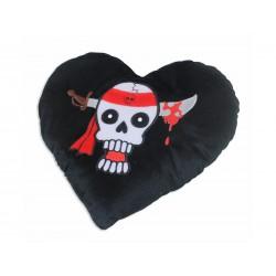 Pirate heart pillow - 60 st
